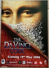 The Da Vinci Code Official Take-Two Promotional Poster, Brand New