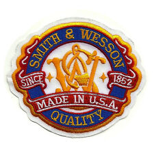S&W Patch Made in USA Logo Smith & Wesson Firearms Embroidered Sew-on Crest LEO