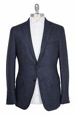 Ermenegildo Zegna Silk & Cashmere 38US/48EU Sport Coat Navy Gray Beige Checks