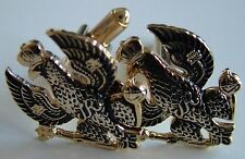 KINGS ROYAL HUSSARS CLASSIC HAND MADE GOLD PLATED REGIMENTAL CUFFLINKS
