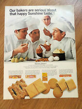 1967 Sunshine Hydrox Cookies Ad Bakers Chefs