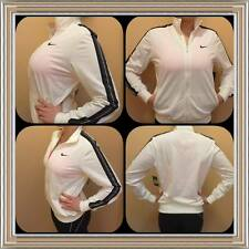 NEW Small Women's White Black Nike Jacket Full Zip Up Running Track Work Out $60