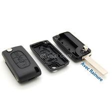 Coque Télécommande plip clé citroen compatible C4 3 bouton CE0523 avec rainure