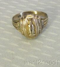 vtg retro 10K YELLOW GOLD MP HIGH SCHOOL CLASS RING sz 5.5