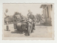 Bulgarian Soldiers ww2 with German BMW Sidecar Motorcycle Field Real Photo #2