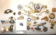 GROUPING LOT 33 Vintage PINS Tie Tacs Army Religious Social Club Bowling School
