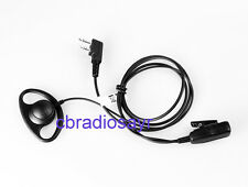 D-shape EARPIECE CON BAVERO per Microfono 2 pin INTEK, MIDLAND CB & 2 Way Radio