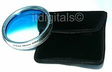 58mm Graduated Blue Color Lens Coated Glass Filter Screw-in Half Blue Half Clear