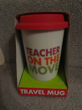 'Teacher on the Move' Travel Mug (Perfect end of term gift)