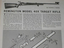 REMINGTON MODEL 40X RIFLE EXPLODED VIEW