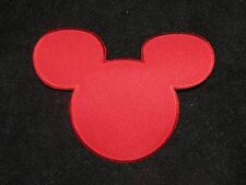 Mickey Mouse Disneyland Embroidered Iron On Patch Applique Princess RED