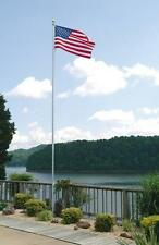 "30' ft. Aluminum Flagpole 30' X 5"" X .156"" Internal Halyard With Cam Cleat - ICC"