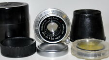 Industar -22  3.5/50.SLR lens.Red,,P,,M39 Exell/Condition.Yellow filter.Blenda.