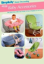 Simplicity Sewing Pattern 4636 Baby Accessories Stroller Rocking Chair Cover NEW