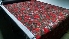"1000D COATED OUTDOOR CORDURA MC2 RED HUNTING CAMO FABRIC 60"" TRUE TIMBER DWR"