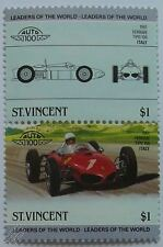 1961 FERRARI TIPO 156 F1 GP Car Stamps (Leaders of the World / Auto 100)