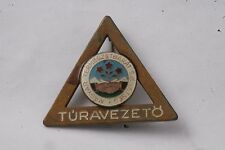 Hungary Hungarian Club Ecology Walking Tour Guide Leader Meet Badge Pin Brass