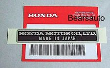 Genuine Honda Acura Made In Japan Emblem Sticker Part87125-041-680 Free Shipping