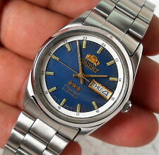 ORIENT CRYSTAL AUTOMATIC WIND DAY DATE DESIGNER 24HRS DIAL STEEL MENS WATCH
