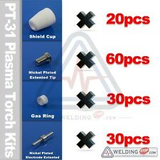 PT-31 JG-40 CT312 CUT40 LG40 plasma consumable extented nickeled electrodes tips