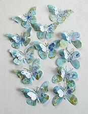 12 Stück 3D Schmetterlinge Scrapbooking Hobby Basteln KartenAccessoires Papier