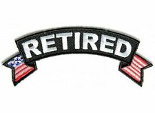 Retired Small Rocker Patch American Flag USA Motorcycle US Biker Patch PAT-3552