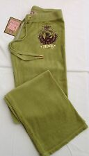 NWT Juicy Couture New & Genuine Ladies Size Small Green Velour Pants UK 8/10