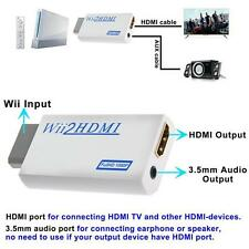 1080p Wii to HDMI Converter Mini 3.5mm Adapter Wii2HDMI Audio HD Video Output CA