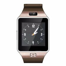 W-09  1.54'Touch Screen  Quad band Bluetooth Watch Phone brown Unlockcell Phone
