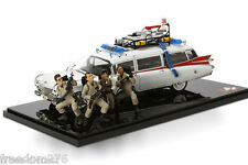 HOTWHEEL ELITE BLY25 GHOSTBUSTERS ECTO-1 30TH ANNIVERSARY EDITION W/FIGURES 1/18