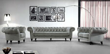 Sofagarnitur Chesterfield Polster Garnitur Couch Neu 5+4+1 BIG XXL Sofa Charly