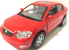 "Kinsmart 1:36 scale Toyota Corolla 5"" diecast model car PULL BACK ACTION 5"" Red"