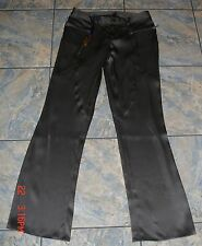 HOUSE OF DEREON SMOKED PEARL DUTCHESS SILK SATIN PANTS  S WOW!