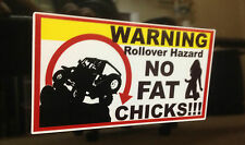 Roll Over Hazzard Decal funny sticker Jeep Wranger Cherokee Rubicon 2 for 1