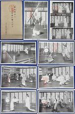 Vintage Japanese Postcard Sword Kata Bugaku shinto budo katana mythology antique