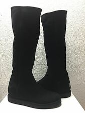 UGG COLLECTION CARMELA TALL NERO SUEDE BOOTS US 6 / EU 37 / UK 4.5 - NIB