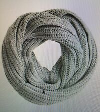 NWT J Crew Women's Chunky Ribbed Infinity Scarf Heather Graphite Cashmere Blend