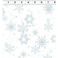 CREATURE COMFORTS WHITE SNOWFLAKES FABRIC
