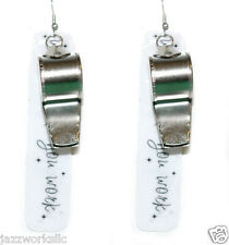WHISTLE WHILE YOU WORK DANGLE EARRINGS (D292)