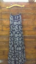 Juicy Couture Voile Patio Paisley Tiered Maxi Dress Navy Size 6 nwot