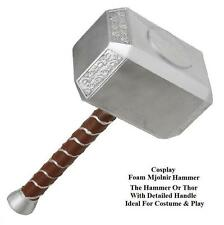 Cosplay Thors Hammer Mjolnir FOAM Avengers Movie Item Ideal for Stage or Costume