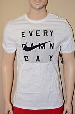 Nike Every Damn Day Men's Athletic Cut White T Shirt Size S