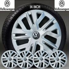 "VW GOLF VW CADDY VW T4 14"" INCH WHEEL TRIMS NEW COMPLETE SET HUB CAPS COVER"