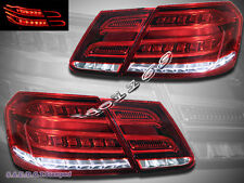 10-13 Mercedes E Class W212 E350 E300 E250 E63 Sedan 4 Dr Red LED Tail Lights