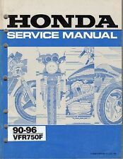 HONDA VFR 750 F 1990 - 96 WORKSHOP SERVICE MANUAL paper bound copy NOT pdf