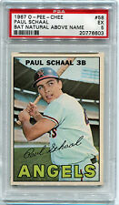 1967 67 OPC O-Pee-Chee 58 Paul Schaal PSA 5 Excellent EX bat natural above name