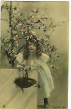c1903 Adorable Little LONG CURLS CUTEY Girl children child traut photo postcard