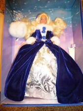 Barbie Doll Winter Princess Blonde 10655 Blue Fur Muff Gown Fashion 1993 Series