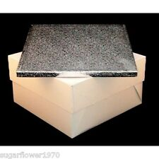 "14"" Square Birthday Wedding Cake Board Drum and Cake Box FAST DESPATCH"