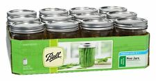 Wide Mouth Pint Jar Ball Mason Jars Preserving Canning Lids 16 Oz 12 Pack 1 Year